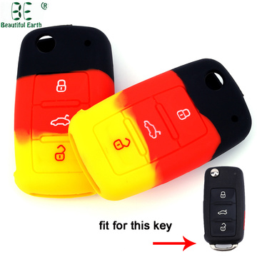 Multicolor Volkswagen Polo 3 Buttons Key Cover