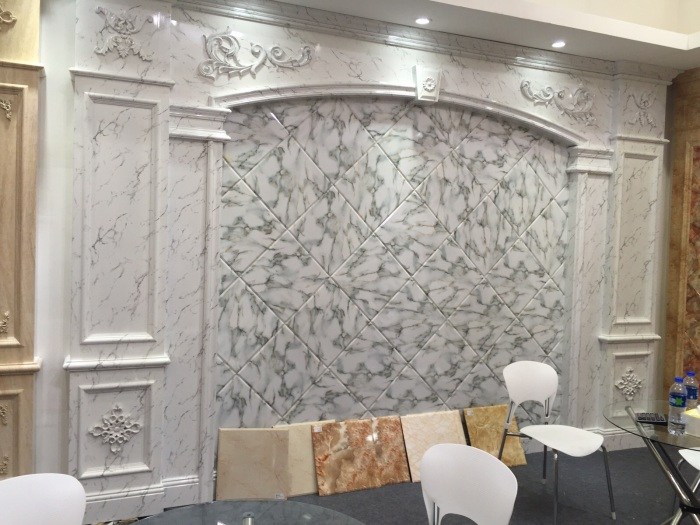 nice quality pvc marble panel for table top