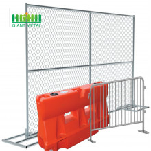 Removable welded temporary fence