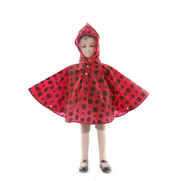 Eco Friendly Printed EVA Child Rain Poncho Raincoat
