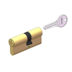 Brass euro cylinder double side