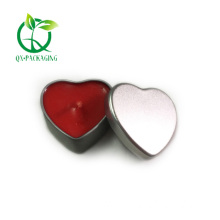 Heart shaped candle tins with lids