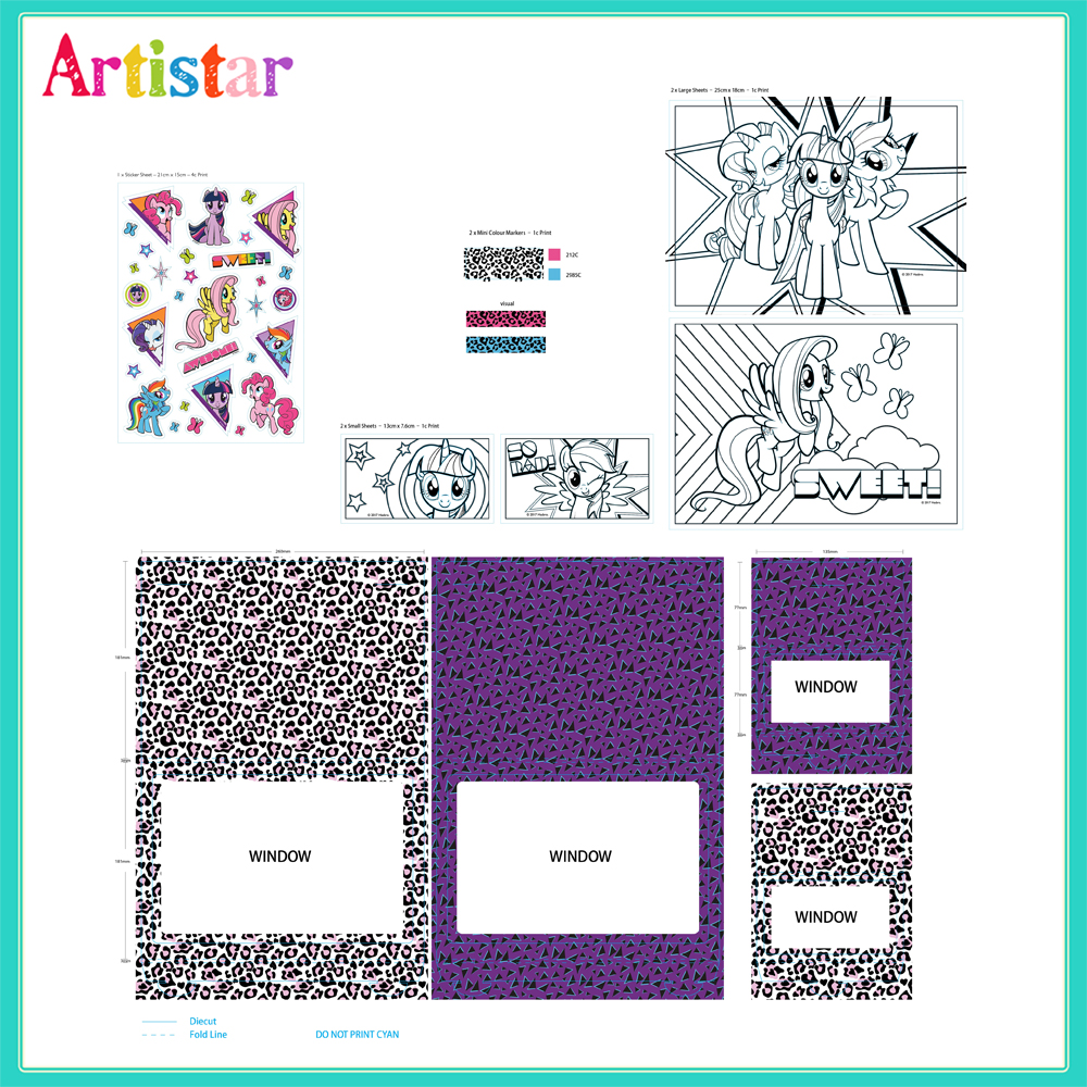 My Little Pony Glitter Attractive Art Set 2