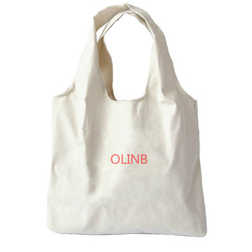 Custom Print Eco Canvas Tote Bag Shopping