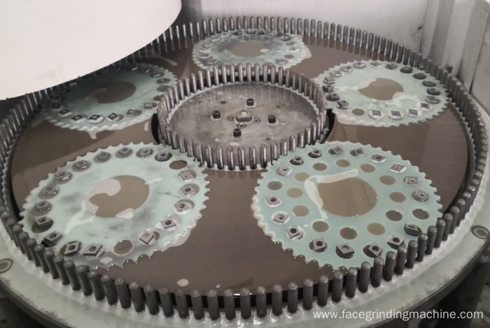 Carbide blade double side surface grinding machine