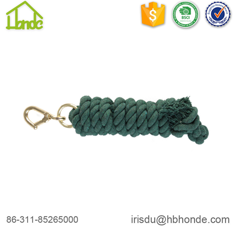 green cotton lead rope