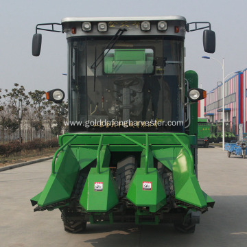 small scale corn maize crop picker cutter