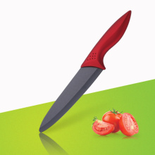 8 inches red rose handle ceramic chef knife