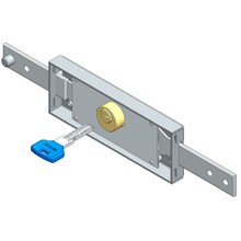 Central roller shutter lock computer key straight bolt