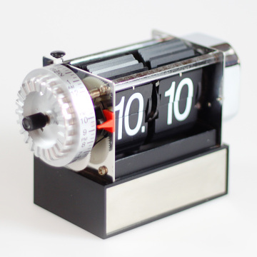 Small Black Flip Clock with Alarm