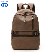 The new pure color canvas backpack men's backpack