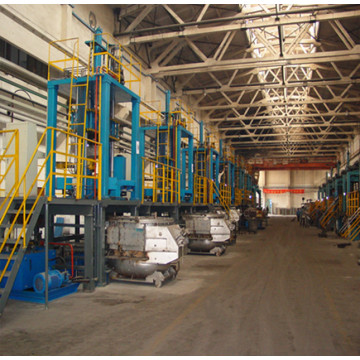 A low pressure die casting equipment