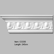 Egg and Dart Design Polyurethane Cornice Moulding