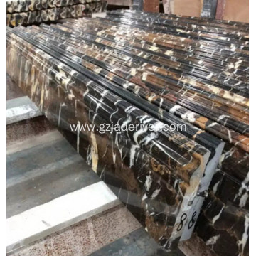 Black Marble Flooring Border Stone Skirting