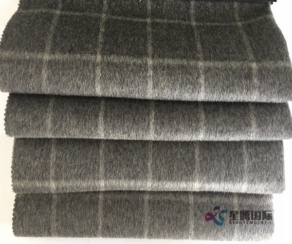 Plaid Checked 100% Wool Fabric For Coat