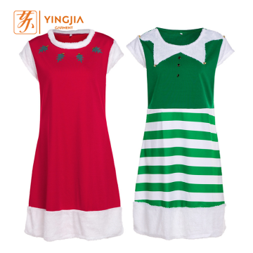 Best Selling New Fashion Christmas Style Short-sleeved Dress