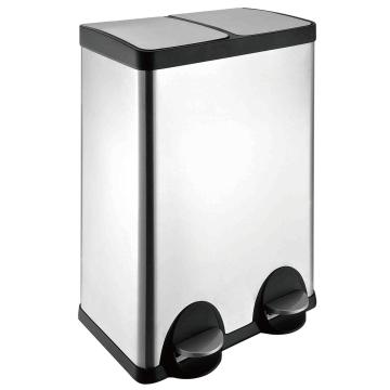30L Double Stainless Steel  trash bin