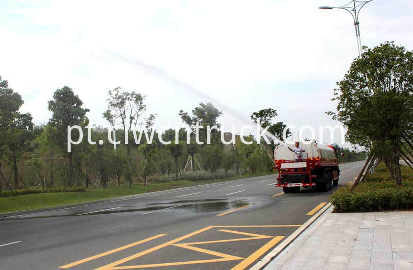 water tank truck in action 5