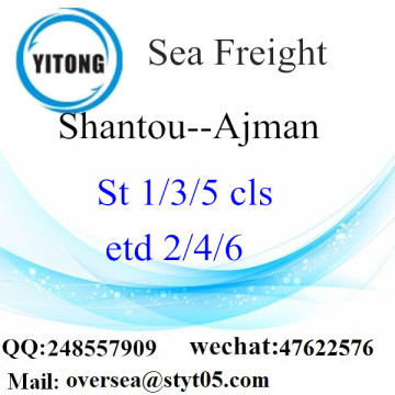 Shantou Port LCL Consolidation To Ajman