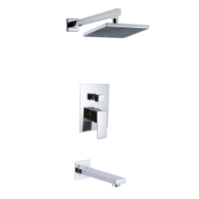 OEM for 2 Ways Concealed Shower Mixer Square Type Built in Shower Mixer On Wall export to Poland Manufacturer