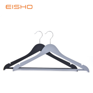 Rubber Coated Wood-like Plastic Hangers