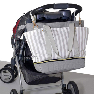 Eco Friendly Weekender Diaper Bag with Stroller Straps