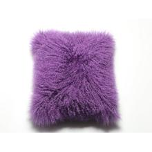 Soft Mongolian Sheepskin Fur Cushion