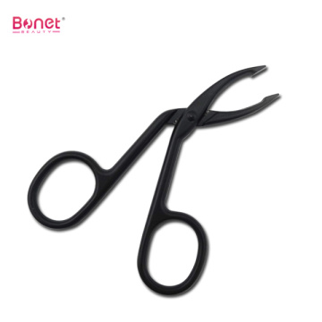 Scissor Handle Stainless Steel Squared Tip Eyebrow Tweezers