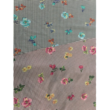New Fashion Design for Rayon Poplin Fabric Check Flower Rayon Poplin shuttle 45S Printing Fabric supply to Namibia Wholesale