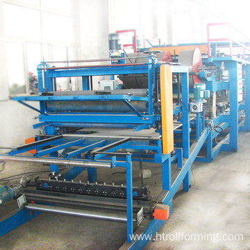 Hot product automatic painted steel sandwich making machine