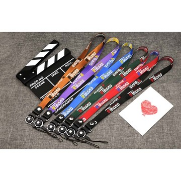 Custom different length branded polyester lanyards with logo