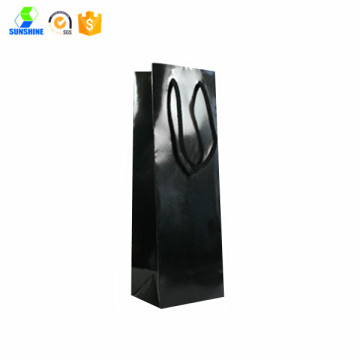 Black handle paper gift bag