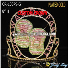 Wholesale Custom Shoes Rhinestone Slipper Pageant Crowns