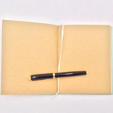 Paper plain notebook with graph