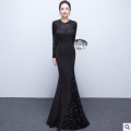 New long sleeved fishtail dress dinner party