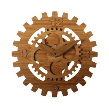 16 inch decorative bamboo wall clock