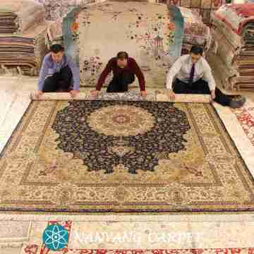9'x12' Pure Silk Qum Rugs for Sale