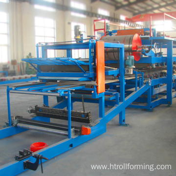 EPS flat board color steel step tile roll forming machine