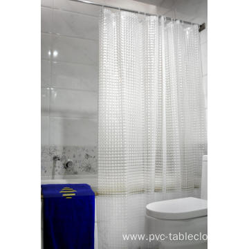 3D EVA Shower Curtain No Holes