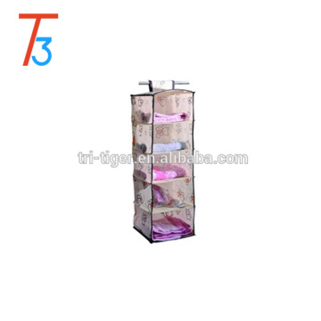 5 tiers bedroom furniture closet foldable fabric clothes shoes hanging organiser storage box hanging organizer