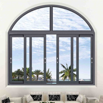 2019 aluminum transom window sliding window with arch transom