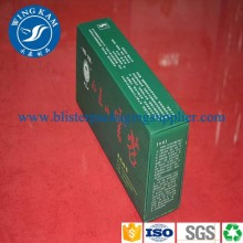 Rectangle Green Cardboard Box Packaging for Tea