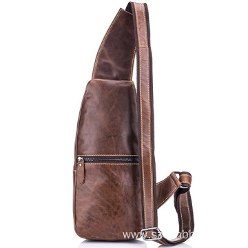 Stylish Popular Leather Men Sling Pack