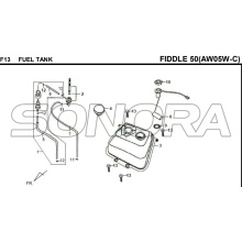 F13 FUEL TANK FIDDLE 50 AW05W-C For SYM Spare Part Top Quality