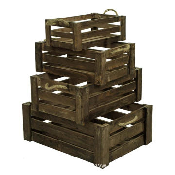 carved Flip craft Cover wooden rustic Packed Wine Box Storage