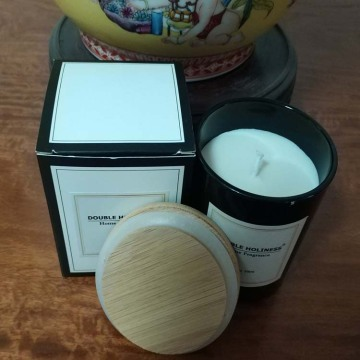 Natural soy wax aroma candle in glass jar