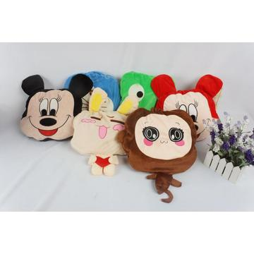 Cute Cartoon Microfiber Cushion Microfiber Blanket