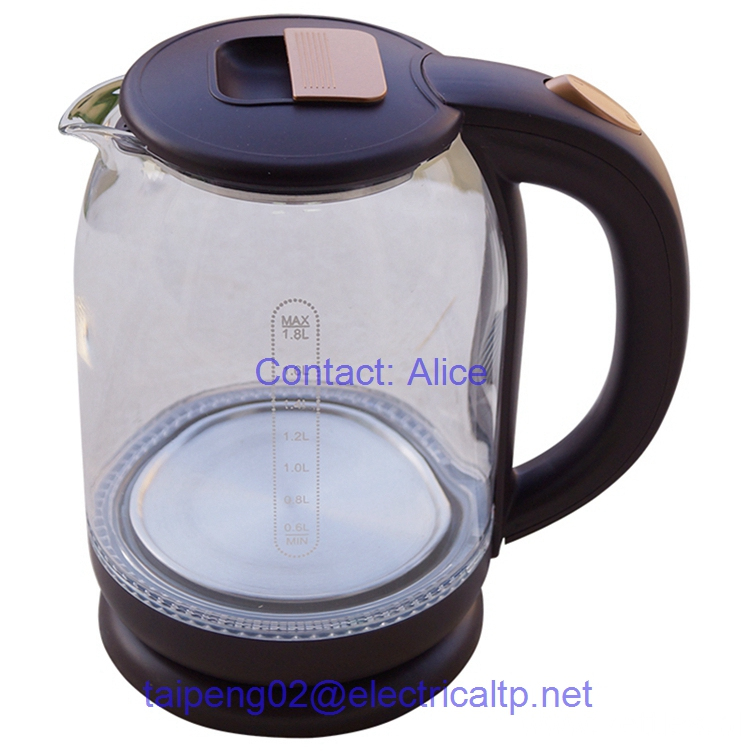 Electric Glass Kettle With Blue Light