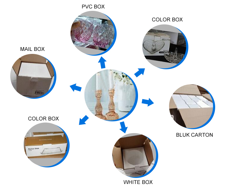other packing of Colored Luxury Candle Container
