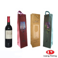 Paper wine bag with handle for one bottle